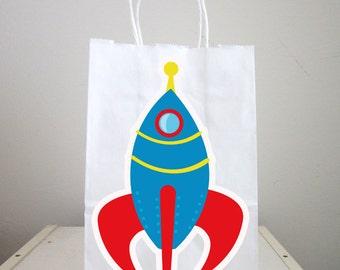 Space Rocket Goody Bags, Space Party Goody Bags,  Astronaut Goody Bags, Space Goody Bags, Space Favor Bags, Astronaut Favor Bag (103161141A)