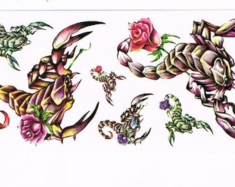 Animal temporary tattoos M060 19 X 9 CM
