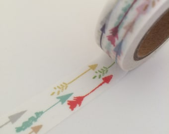 15mm x 10 m washi masking tape - colorful arrow (LTP)