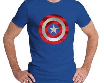 Men's Captain America Shield royal blue T-Shirt