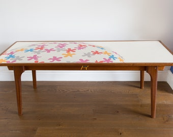 Colourful Upcycled coffee table (Lollipop in colour)