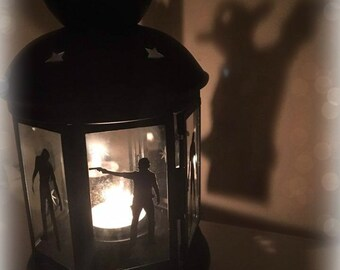 The Walking Dead Inspired Lantern, Tea light Holder,  Lantern, Candle Glow Gift set
