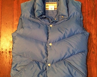 Vintage 1970's mens/womens REI puffy vest size small/med
