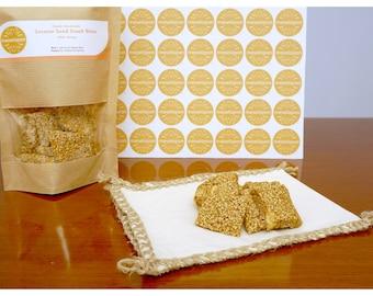 Greek Handmade Healthy Energy Sesame Snack Bar( Pasteli ) Bites With Honey From Crete Island 1500gr ( 52.91oz )