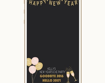 New Year's Eve Geofilter, Snapchat Geofilter, Filter, New Year's Eve, New Year's Party, New Year's Eve Party, Goodbye 2016 Hello 2017