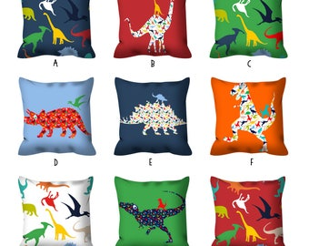 dinosaur pillow dinosaur decor dinosaur throw pillow gift for boys boys bedroom decor boys room decor colorful pillow fun nursery pillow