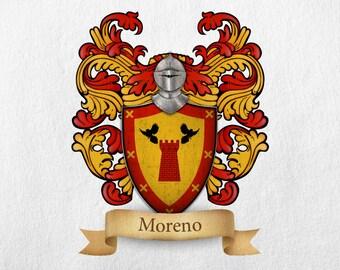Moreno Family Crest - Print