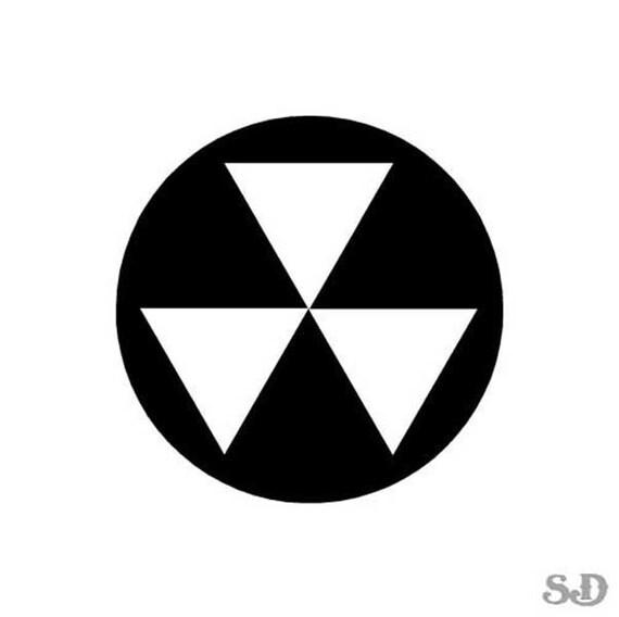 Fallout Shelter Symbol Vinyl Decal Sticker 375 X