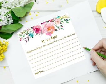 Date night cards for Bridal shower / Kitchen tea / Hen's Party