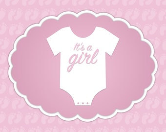 Baby Announcement for a Girl #5