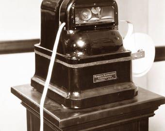 "1926 Ticker Tape Machine Vintage Photograph 8.5"" x 11"" Reprint"