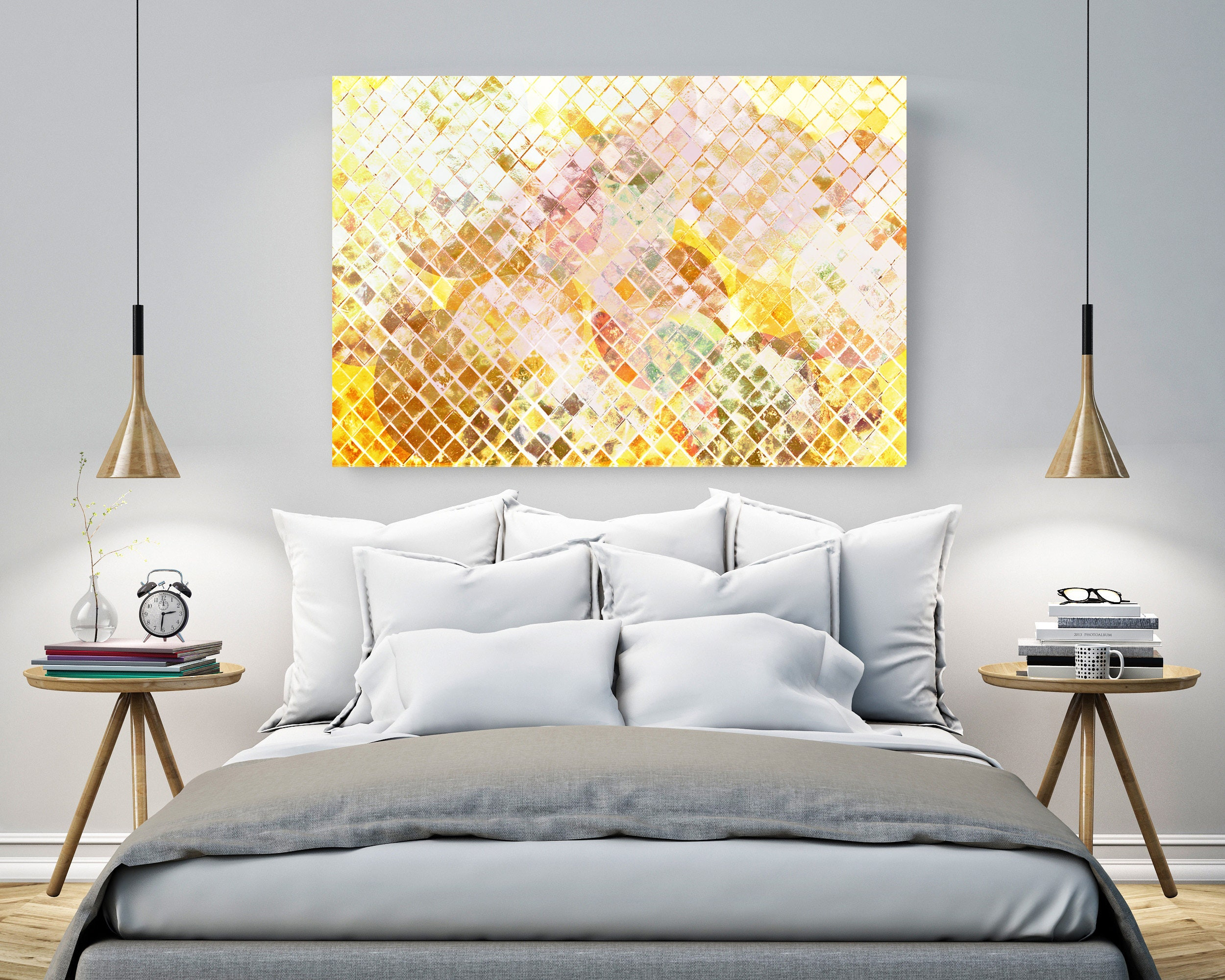 abstract print art Canvas wall art gold abstract wall art