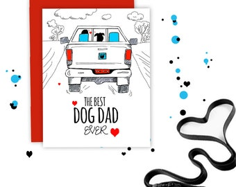 Dog Fathers Day Card - Dogs Dad Card - Fathers Day Card - From the Dog - Best Dog Dad Ever