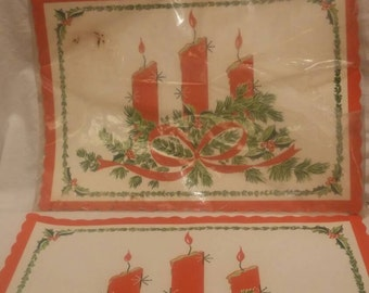 Set of 20 vintage paper Christmas placemats, still in packaging