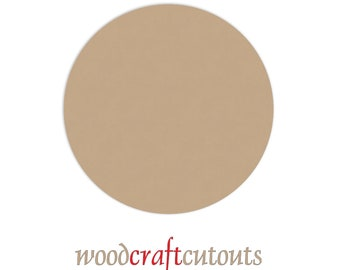 "12 Inch Unfinished Wood Circle Discs Craft Cutout Shape- 1/4"" thick. Smooth and Ready to Paint - MDF"