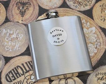 GROOMSMEN PERSONALISED Hip Flask