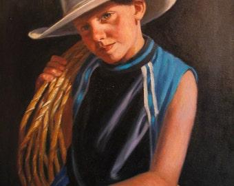 CUSTOM OIL PORTRAIT 16 x 20 Oil painting