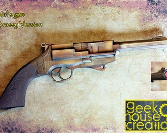 Malcolm's gun in sci-fi Firefly Serenity TV Show and movie. 3D Printed Steampunk and Diesel