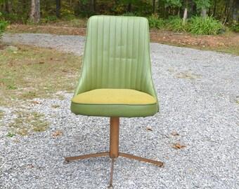 Vintage Chromecraft Swivel Chair Green Vinyl Upholstered Seat All Original PanchosPorch & Naugahyde chair | Etsy