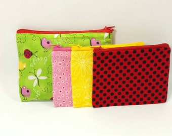 Kids Cash Envelope Wallet, Kids Cash Budget System, Give, Save, Spend -Butterfly & Lady Bugs- READY to SHIP