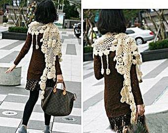 crochet scarf pattern,crochet shawl pattern,crochet accessory pattern,crochet stole pattern,crochet lace scarf,irish crochet shawl,