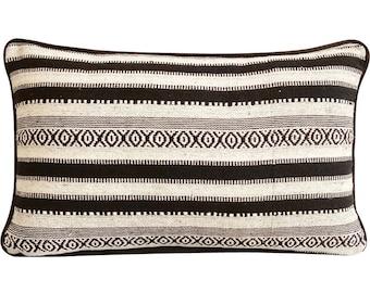 Moroccan Decorative Oblong / Lumbar Rectangle Throw Pillow Covers Accent Pillow Couch Sofa 12x16 Woven Pillows - Moroccan Ceramics