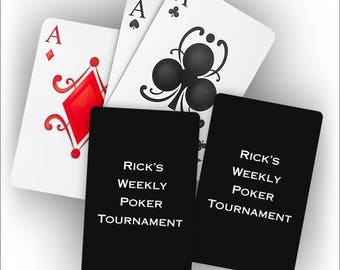 Personalized Foil Stamped Playing Cards - 2 decks - 3995