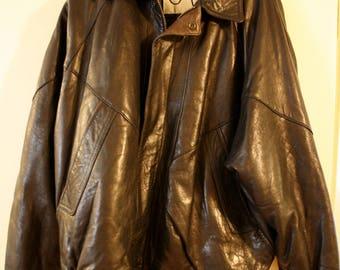 New Zealand Cooper Collection Jacket Brown Jacket Leather Mens XL, Vintage Leather Bomber Jacket