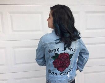 Soy Fuerte y Soy Capaz Custom Design Jean Jacket