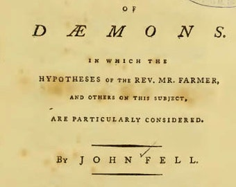 1779 Doctrine of Daemons essay on Good Evil Angels Daemons Scripture e book digital download 99p