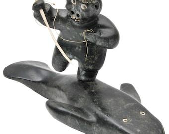 Large Judas Ullulaq (Ooloolah) Sculpture, Inuit Artist