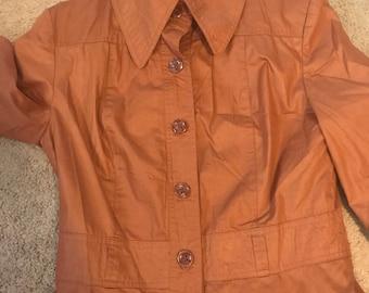Vintage RainFette Fashion long sleeved rain jacket