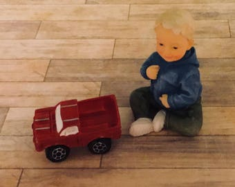 Dollhouse Miniature Toy Red Truck