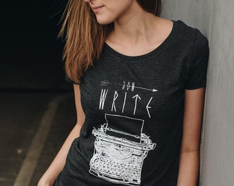 now write Women T-Shirt Organic & Fair Wear
