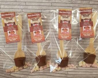 Dairy free, gluten free, soy free  & vegan hot chocolate stirrer/spoons