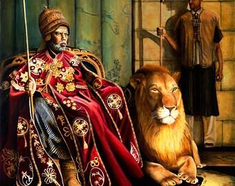 Menelik II of Ethiopia - Archival Giclee 20x24 SIGNED Print