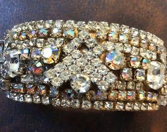 Stunning Vintage Rhinestone Covered Bracelet