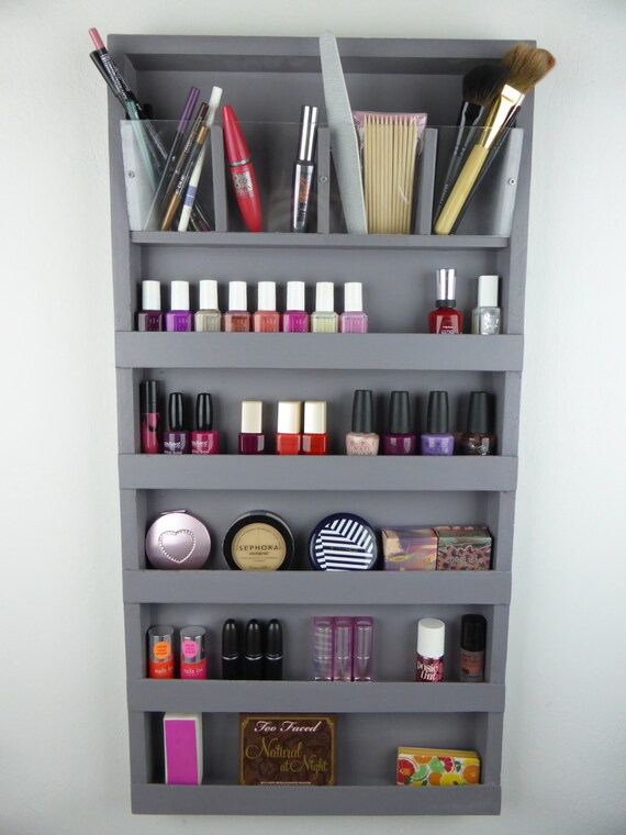 Items Similar To Grey Make Up Organizer Bathroom Storage