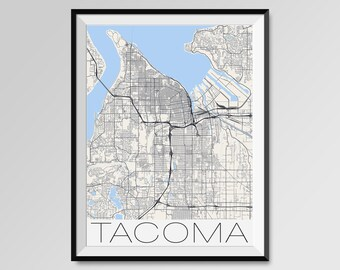 Tacoma map Etsy