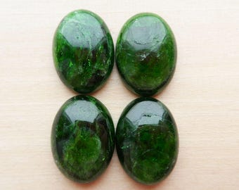 Chrome Diopside Cabochon 18x13mm
