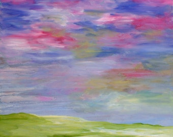 Landscape No. 1 Original Acrylic Painting On Gallery Wrapped Canvas