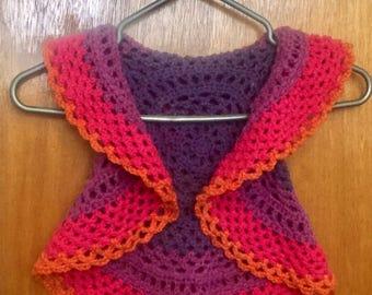 Hippie Vest - Circular Vest - Circle Vest - Mandala Vest - Boho Vest - Crocheted Vest - Crochet Mandala Vest - Multicolor Vest