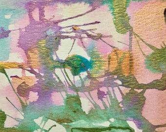 Violet Femme Watercolor Postcard