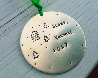 New Home Ornament - First Christmas In New Home Ornament - New Home Ornament Personalized - New Home 2017 - Ski Ornament - Ornament-