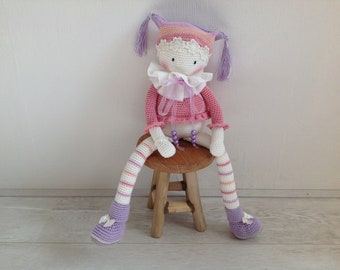 Crochet doll /amigurumi doll/ rag doll/ nursery decor/ baby shower