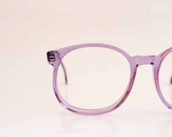 Vintage Clear Purple Round Eyeglasses Frames