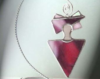 Peaceful Spirit Stained Glass Ornament