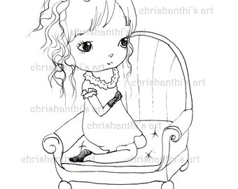 INSTANT DOWNLOAD Digital Digi Stamps..by Chrishanthi's art,Gena.