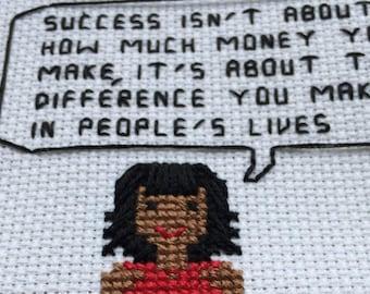 Michelle Obama Cross Stitch Pattern