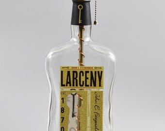Larceny Bourbon Bottle 1.75 Lamp/handmade/ man cave/light/bourbon lamp/bottle light/liquor/bar/gifts for men/whiskey/whiskey bottle lamp